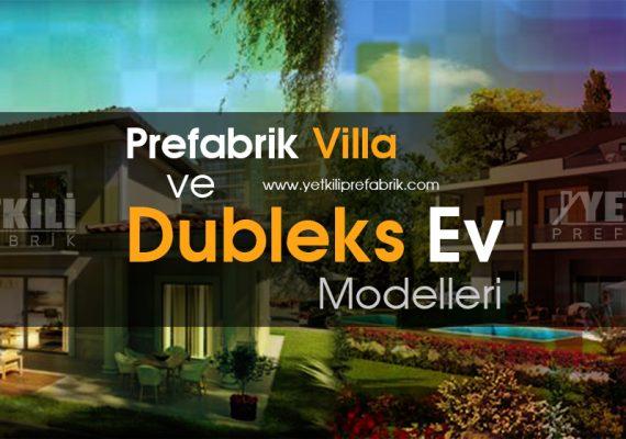 Prefabrik Villa ve Dubleks Prefabrik Ev Modelleri